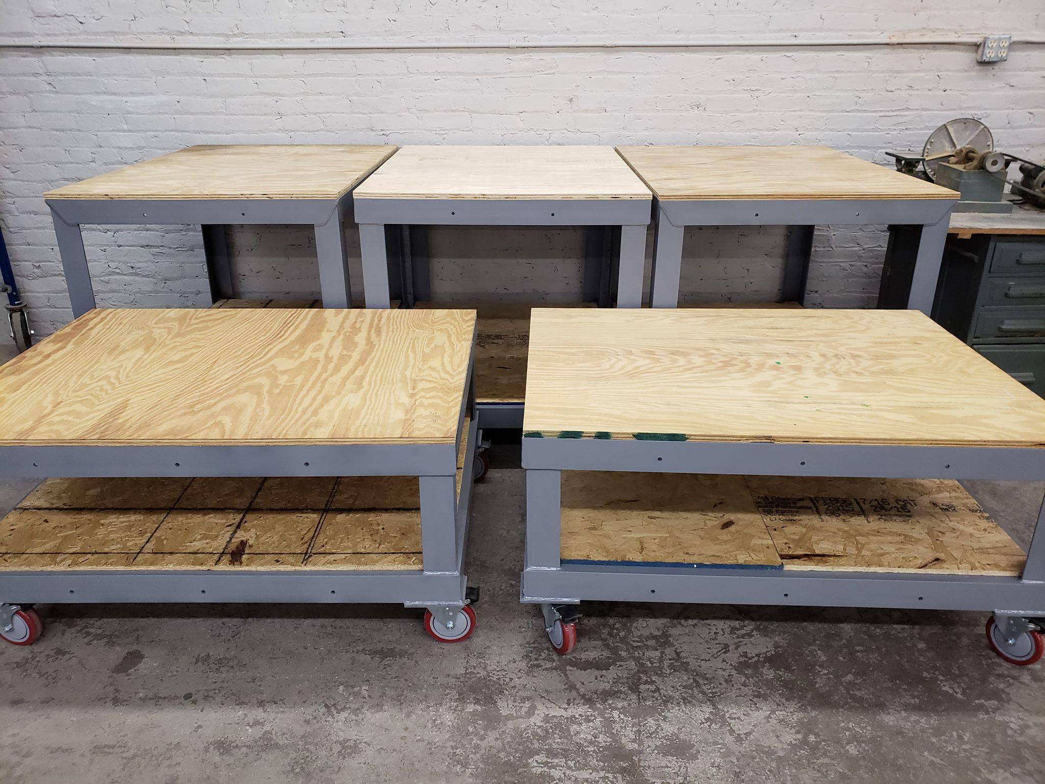 hobart interns fabricate specially designed tables | habitat